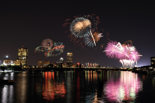 Fireworks over Boston - bostonmagazine.com